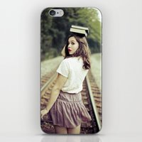 bookworm iPhone & iPod Skins featuring Bookworm by Kelly Is Nice