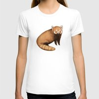 red panda T-shirts featuring Red Panda by Sophie Corrigan