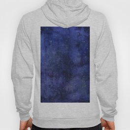 Galaxy Watercolor Nebula Texture Night Sky Stars Hoody
