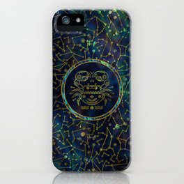 Cancer Zodiac Gold Abalone on Constellation iPhone Case