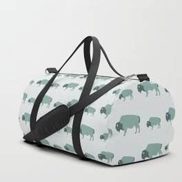 Bison And Baby (Moss) Duffle Bag