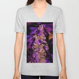 Delicate fractal grasses Unisex V-Neck