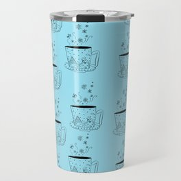 A cup of snow flakes Travel Mug