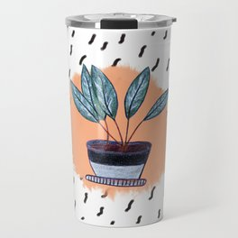 Flowers in Pot Travel Mug