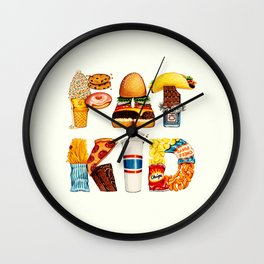 FAT KID Wall Clock