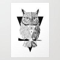 illuminati Art Prints featuring Illuminati by Wink