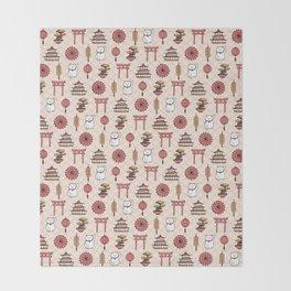 Japanese pattern Throw Blanket