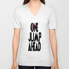 One Jump Ahead Unisex V-Neck