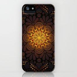 """Warm light Moroccan lantern Mandala"" iPhone Case"
