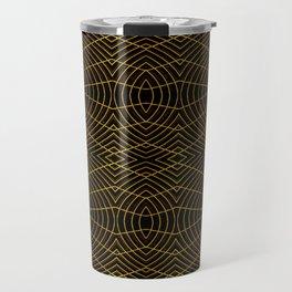 Futuristic Geometric Design Travel Mug