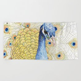 The Peacock Beach Towel