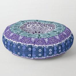 Dragonfly Mandala Floor Pillow