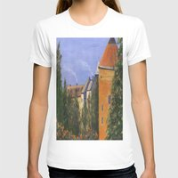 prague T-shirts featuring Prague Castle by Vivid Perceptions