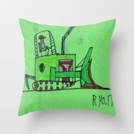 Moving Earth Throw Pillow