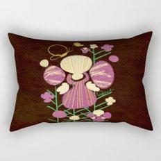 Floral Flower Artprint Rectangular Pillow