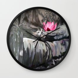 I love the smell of my palm in the morning-Apocalypse now. Homage to F.Ford Coppola Wall Clock