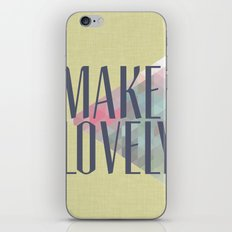 Make Lovely // Leaf iPhone & iPod Skin