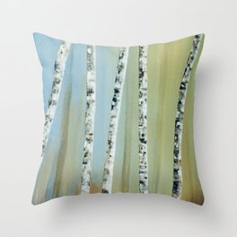Summer Bir Throw Pillow
