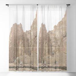 Smith Rock Oregon Desert Sunset - Nature Photography Sheer Curtain