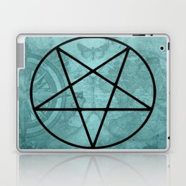 Aqua pentagram | The elements | Gothic decor Laptop & iPad Skin