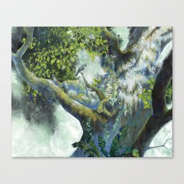 Hiding in the leaves Canvas Print