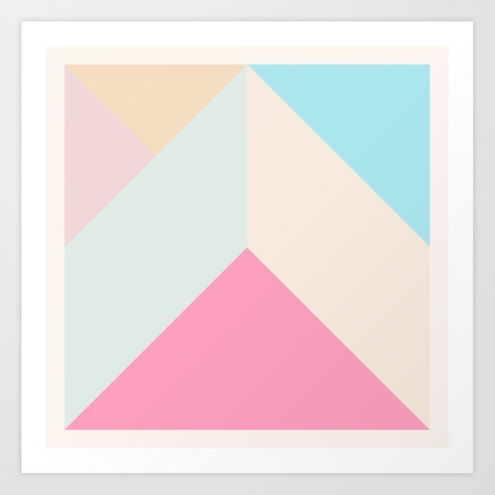 Ultra Geometric V Art Print