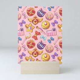 magical girl lover sailor moon pattern Mini Art Print