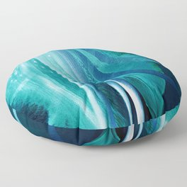 Lily Blue Floor Pillow