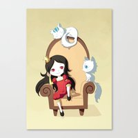 princess Canvas Prints featuring Princess by Freeminds
