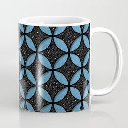 Leather and Denim Circles Coffee Mug