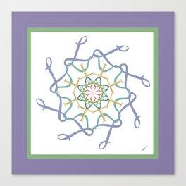 Lullaby Mandala - Lavender Green Canvas Print