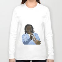 trumpet Long Sleeve T-shirts featuring Trumpet player by Aquamarine Studio