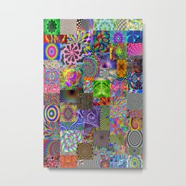 Psychedelic Montage Metal Print