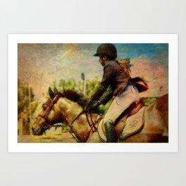 Girl Equestrian  Art Print