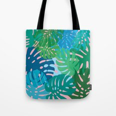 Colorful monstera leaves 3 Tote Bag