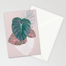 Pastel Leaves Stationery Cards
