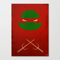 TMNT Raph poster Canvas Print