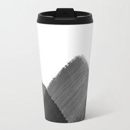 Minimalist Mountain Ink Art Print Travel Mug
