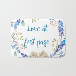 Love at first page Bath Mat
