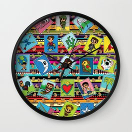 Loteria Night Wall Clock