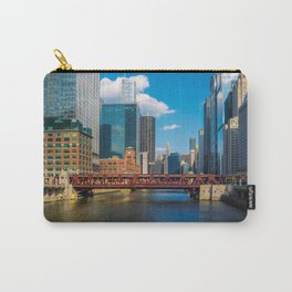 View of Chicago River Skyline Wells Street Bridge Windy City Carry-All Pouch