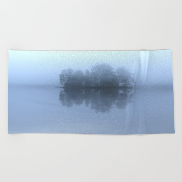 Blue Reflection On The Lake Beach Towel