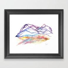 Varenna Sunset Framed Art Print