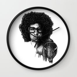 Omar Rodriguez Lopez and his bison Wall Clock