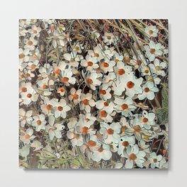 Toony World Floral 2 Metal Print