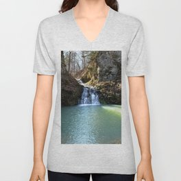 Alone in Secret Hollow with the Caves, Cascades, and Critters, No. 3 of 21 Unisex V-Neck