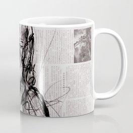 Saint - Charcoal on Newspaper Figure Drawing Coffee Mug