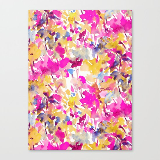 Local Color Yellow Pink Canvas Print