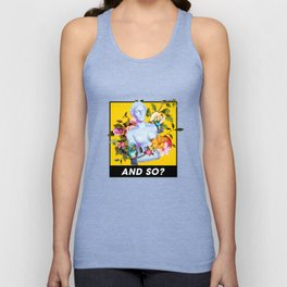 Vaporwave Venus with Flowers Unisex Tank Top