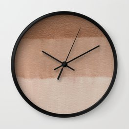 Dusty Rose Ombre Wall Clock